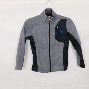 Spyder Gray Core Sweater Jacket Small 7/8
